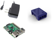 Raspberry Pi Model B+ Deluxe Kit with Modular Case and 5v 2A PSU