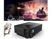 1000 lumens Mini Pico Portable Full HD Video LED Multimedia LCD Projector for Home Business Theater Cinema PC VGA USB SD AV HDMI PS 1920* 1080 AV USB 2.0