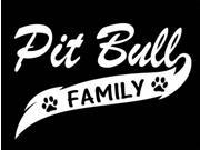 Pit Bull Family Window Decal Sticker 7