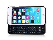Plastic Material Luminous Wireless Bluetooth Keyboard with Slide-out Design Protective Case for iPhone 6 - 4.7 inches