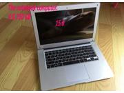15.6inch Ultra low cost quad core laptop computer 4G750GB camera WiFi