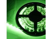 16.4ft (5m) GREEN Flexible LED Strip Lights - 3528 SMD 300LEDs/pc - Non-waterproof IP-44