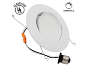 10W 5-6 inch Directional UL-listed Dimmable LED Recessed Lighting Fixture - Warm White LED Ceiling Light - 920LM 75W Equivalent Recessed Downlight