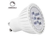 110V 7W Dimmable GU10 LED Bulb - 2700K Warm White LED Spotlight - 60Watt Halogen Equivalent - 450 Lumen 36 Degree Beam Angle for Home, Recessed, Accent, Track Lighting