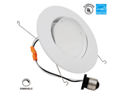 10W 5-6 inch Directional ENERGY STAR & UL-classifiedDimmable LED Recessed Lighting Fixture - Daylight LED Ceiling Light - 920LM 75W Equivalent Recessed Downlight