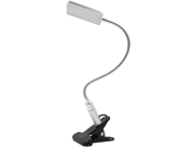 SILVER Eye-friendly Clip-on LED Laptop Lamp, 3-level Brightness, Energy-saving, Touch Sensitive Control, Daylight White, Flexible Gooseneck, Flicker-free, No GhWork/Reading/Studying/Relaxation/Bedtime