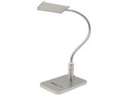 SILVER Eye-friendly LED Desk Lamp, 3-level Brightness, Touch Sensitive Control, Daylight White, Flexible Gooseneck, Flicker-free, No Ghosting & Anti-glare for Work/Reading/Studying/Relaxation/Bedtime