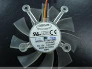 Cooling Fan of EVERFLOW 8015 R128015SH with 12V 0.32A 3-Wires 4-Hole
