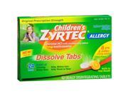 Children's Zyrtec 24 hour Allergy Relief 10mg -12 Dissove Tablets