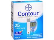 Contour Blood Glucose Test Strips - 25 ct