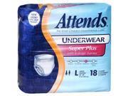 Attends Underwear Large Super Plus Absorbency - 4 pks of 18 ct
