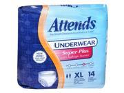 Attends Underwear Extra Large Super Plus Absorbency - 4 pks of 14ct