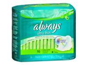 Always Ultra Thin Maxi Pads with Flexi-Wings Long Super - 12 packs of 16