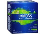 Tampax Compak Pearl Super Absorbancy Plastic Tampons - 20 ea