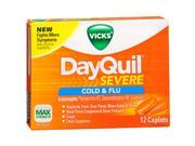 Vicks DayQuil Severe Cold Flu Max Strength - 12 Caplets