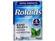 Rolaids Extra Strength Chewable Tablets Mint - 30 ct