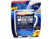 Mucinex Fast-Max Cold & Flu Powder Packets Night Time Honey Lemon Flavor - 4 Packets