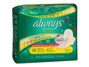 Always Fresh Ultra Thin Pads Regular Flexi-Wings Clean Scent - 12 packs of 16