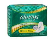 Always Ultra Thin Maxi Pads with Flexi-Wings Regular - 12 packs of 18