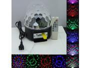 Magic Crystal Ball RGB LED Stage DJ Disco Xmas Party Lighting Remote Controller