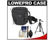 Lowepro Toploader Pro 65 AW Digital SLR Camera Holster Bag/Case (Black) with Deluxe Photo/Video Tripod + Accessory Kit