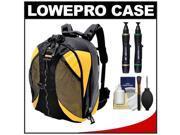 Lowepro DryZone 200 Waterproof Digital SLR Camera Backpack Case (Black/Yellow) with Complete Cleaning Kit