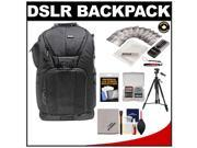 "Vivitar Series One Digital SLR Camera/Laptop Sling Backpack - Large (Black) Holds Most 17'"" Laptops with 58"" Tripod + Camera & Laptop Cleaning Kits"
