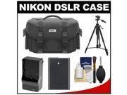 Nikon 5874 Digital SLR Camera Case - Gadget Bag with EN-EL14 Battery + Charger + Tripod + Cleaning Kit