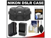 Nikon 5874 Digital SLR Camera Case - Gadget Bag with EN-EL15 Battery + Charger + Accessory Kit