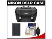 Nikon Deluxe Digital SLR Camera Case - Gadget Bag with EN-EL14 Battery + Cleaning Kit