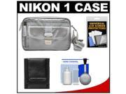 Nikon 1 Series Deluxe Digital Camera Case (Gray) with Cleaning & Accessory Kit