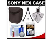 Sony LCS-BBF Soft Digital Camera Case for NEX Digital Cameras (Black) with Accessory Kit