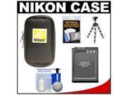 Nikon Coolpix Nylon Digital Camera Carrying Case with EN-EL12 Battery + Flex Tripod + Accessory Kit