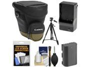 Canon Zoom Pack 1000 Digital SLR Camera Holster Case with LP-E6 Battery & Charger + Tripod + Accessory Kit