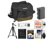 Canon 100EG Digital SLR Camera Case - Gadget Bag with LP-E6 Battery + Tripod + Accessory Kit