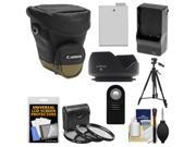 Canon Zoom Pack 1000 Digital SLR Camera Holster Case with LP-E8 Battery & Charger + 3 Filters + Tripod + Remote + Hood + Accessory Kit