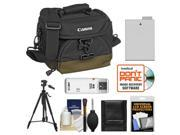 Canon 100EG Digital SLR Camera Case - Gadget Bag with LP-E8 Battery + Tripod + Accessory Kit
