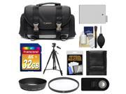 Canon 200DG Digital SLR Camera Case - Gadget Bag with 32GB Card + LP-E8 Battery + Lens Hood + Remote + Filter + Tripod + Accessory Kit