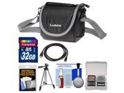 Panasonic Digital Camera Carrying Case (Black) with 32GB Card + Tripod + HDMI Cable + Accessory Kit for Lumix FZ70 & FZ200 Cameras