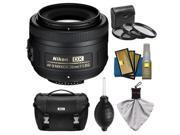 Nikon 35mm f/1.8 G DX AF-S Nikkor Lens with Nikon Case + 3 UV/CPL/ND8 Filters + Cleaning Kit