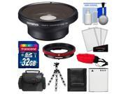 Olympus FCON-T01 Fisheye Converter Lens & CLA-T01 Adapter Ring Pack for Tough TG-2, TG-3 iHS & TG-4 Camera with 32GB Card + Case + Li-90B Battery + Tripod Kit