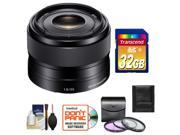 Sony Alpha E-Mount 35mm f/1.8 OSS Lens with 32GB Card + Case + 3 (UV/FLD/CPL) Filters + Accessory Kit