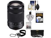 Sony Alpha A-Mount 55-300mm f/4.5-5.6 DT SAM Zoom Lens with 3 UV/CPL/ND8 Filters + Accessory Kit