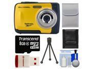 Bell & Howell Splash WP10 Shock & Waterproof Digital Camera (Yellow) with 16GB Card/Reader + Case + Tripod + Accessory Kit
