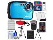 Coleman Xtreme2 C12WP Shock & Waterproof Digital Camera with HD Video (Blue) with 16GB Card + Case + Batteries & Charger + 2 Tripods + Accessory Kit