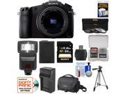 Sony Cyber-Shot DSC-RX10 Digital Camera with 24-200mm f/2.8 Zoom Lens with 64GB Card + Battery + Charger + Case + Flash + Tripod + Accessory Kit