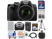 Nikon Coolpix P530 Digital Camera (Black) with 32GB Card + Battery + Charger + Case + Tripod + Accessory Kit