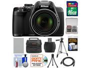 Nikon Coolpix P530 Digital Camera (Black) with 16GB Card + Battery + Case + Tripod + HDMI Cable + Accessory Kit