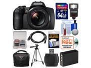 Fujifilm FinePix S1 Weather Resistant Wi-Fi Digital Camera with 64GB Card + Case + Flash + Battery + Tripod + Kit