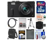 Panasonic Lumix DMC-ZS40 Wi-Fi GPS Digital Camera (Black) with 32GB Card + Case + Battery + Tripod + Kit
